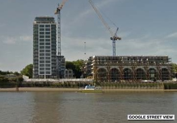 Building on the Thames where incident occured.